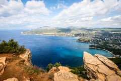 Coastal cliff of Cassis Provence France Stock Photo