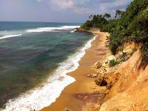 Coastal cliff sauvage beach   , Sri Lanka