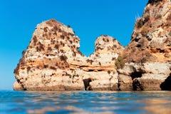 Coastal cliffs (Ponta da Piedade), Lagos, Portugal Stock Photos