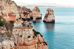 Coastal cliffs (Ponta da Piedade), Lagos, Portugal Royalty Free Stock Photography