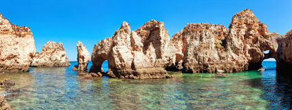 Coastal cliffs (Ponta da Piedade), Lagos, Portugal Stock Photos