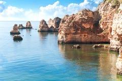Coastal cliffs (Ponta da Piedade), Lagos, Portugal Royalty Free Stock Image