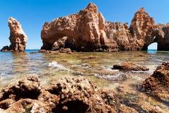Coastal cliffs (Ponta da Piedade), Lagos, Portugal Royalty Free Stock Photos