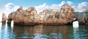 Coastal cliffs (Ponta da Piedade), Lagos, Portugal Royalty Free Stock Image
