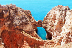 Coastal cliffs (Ponta da Piedade), Lagos, Portugal Royalty Free Stock Images