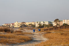 Coastal Condo Complex at Dawn Stock Image