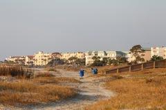 Coastal Condo Complex at Dawn Stock Image