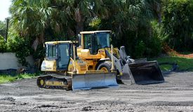Coastal Construction Equipment Royalty Free Stock Images