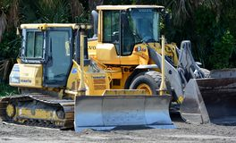 Coastal Construction Equipment Close-up. Royalty Free Stock Photography
