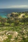 Coastal countryside at Akamas peninsula of Cyprus Royalty Free Stock Images