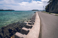 Coastal defence, Okinawa royalty free stock images