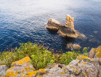 Coastal detail in Galicia, Spain. Stock Image