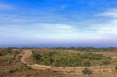Free Coastal Dirt Road Winding Through Natural Vegetation Towards Oc Royalty Free Stock Images - 73873659