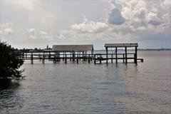 Coastal Docks Royalty Free Stock Photo