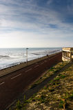 Coastal drive. Blackpool, England, on a bright summer afternoon in June royalty free stock image