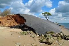 Coastal Erosion. The effects of coastal erosion on the shoreline Royalty Free Stock Photos