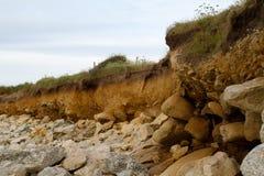 Coastal erosion Royalty Free Stock Photos
