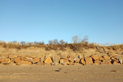Coastal erosion defences. Stock Photography