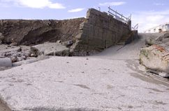 Coastal Erosion on East Coast of England Royalty Free Stock Photo