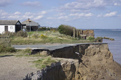 Coastal Erosion, East Yorkshire Coast. England Royalty Free Stock Images