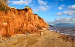 Coastal erosion on the Jurassic Coast Royalty Free Stock Photography
