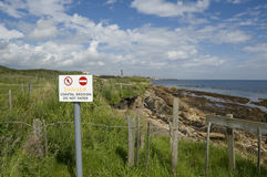 Coastal erosion, St. Monans, Fife Royalty Free Stock Photography
