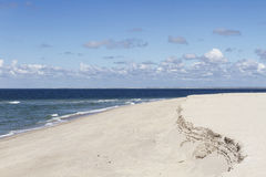 Coastal erosion sylt germany Royalty Free Stock Photo