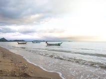 Coastal fishing boats are parked. Stock Photography