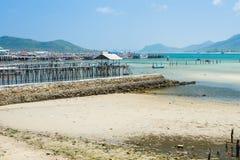 Coastal fishing village.Estuary Stock Images