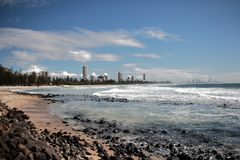 Coastal Fix. Taken at Burleigh Heads Beach or close to there, Gold Coast, Queensland, Australia . Amazing view. You guys need to come here Royalty Free Stock Photo