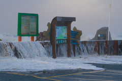 Coastal flooding Borth Stock Images
