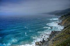 Coastal Fog Big Sur California Stock Photos