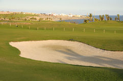 Coastal Golf Course royalty free stock image