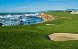 Coastal golf course. California coastal golf course stock photo