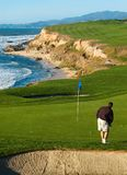 Coastal golf course. California coastal golf course royalty free stock images
