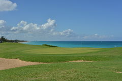 Coastal golf course in Cuba Royalty Free Stock Photography
