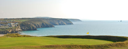 Coastal golf course with views Stock Images