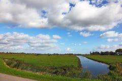 Coastal grassy plain Stock Photos