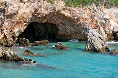 Coastal grotto. Royalty Free Stock Photo