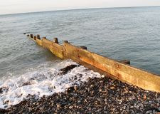 Coastal Groyne. Royalty Free Stock Photography