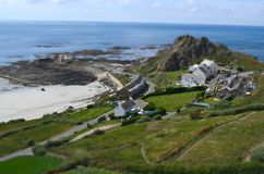 Coastal Hamlet. A remote coastal location in Jersey royalty free stock image