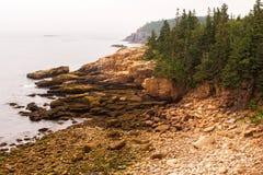 Coastal Haze. On the Atlantic coast in Maine Stock Images