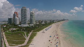 Coastal highrise in Miami Beach Florida stock video