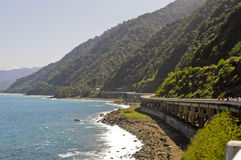 Coastal Highway. A large elevated coastal highway in the philippines Royalty Free Stock Photos