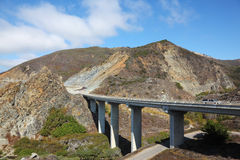 The coastal highway and a bridge Stock Images