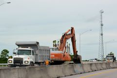 Coastal Highway Construction Stock Photography