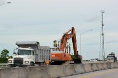 Coastal Highway Construction Stock Photography