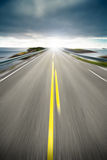 Coastal highway road in motion Stock Images