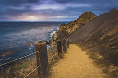 Toveemor Trail on a cloudy day stock photography