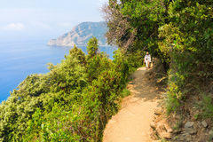 Coastal hiking trail in Monterosso, Cinque Terre, Italy Royalty Free Stock Photography